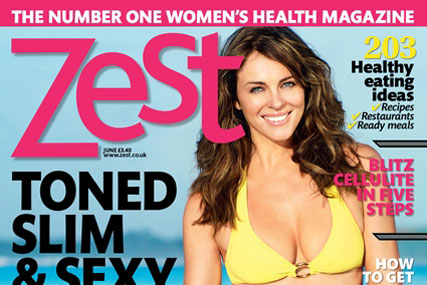 Elizabeth Hurley: guest edits Zest's June issue