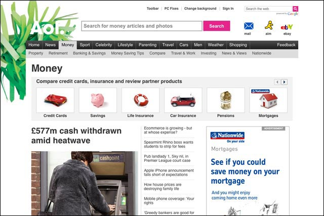 AOL Money: personal finance website launches today