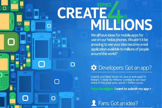 Nokia: launches Create for Millions social network competition