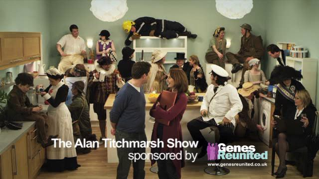 Genes Reunited: sponsors the latest series of The Alan Titchmarsh Show