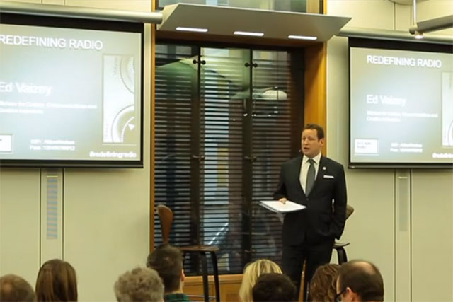 Culture minister Ed Vaizey at a media event last week