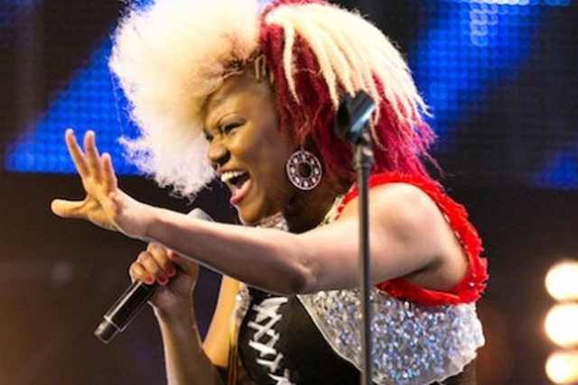 The X Factor: contestant Souli Roots performs on the show