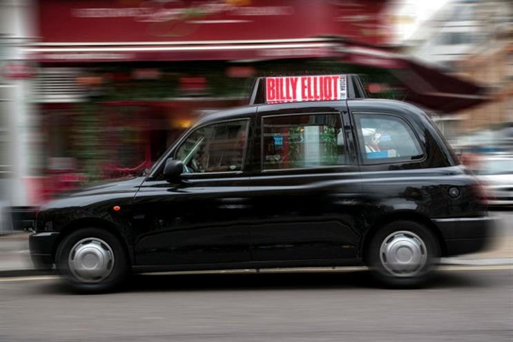 Digital taxitop coming to London