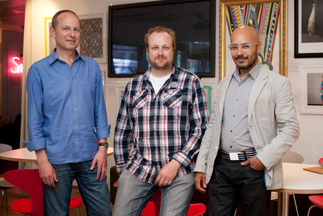 AMV digital hires: (l-r) Andrew Pinkess, Gregory Roekens and Saher Sidhom