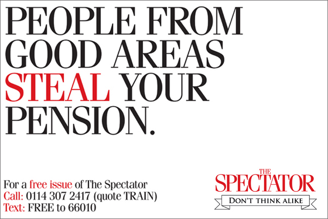 The Spectator: train campaign by Ogilvy & Mather