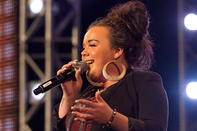 The X Factor: contestant Amy takes the stage