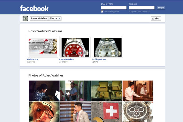 Facebook: unnoficial Rolex page topped brand-engagement survey