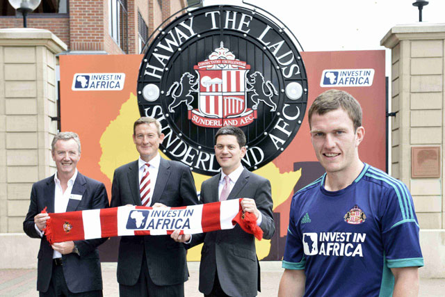 Sunderland AFC: Premier League club partners with Invest in Africa in shirt sponsorship