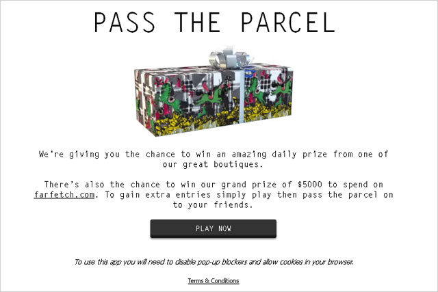 Farfetch: unveils its pass the parcel digital campaign