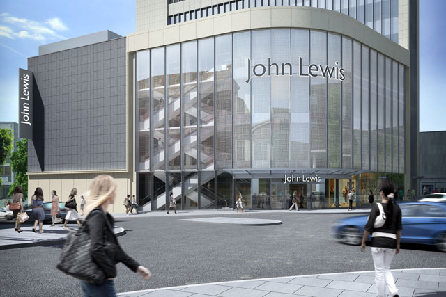 John Lewis Exeter: CGI impression of the new store