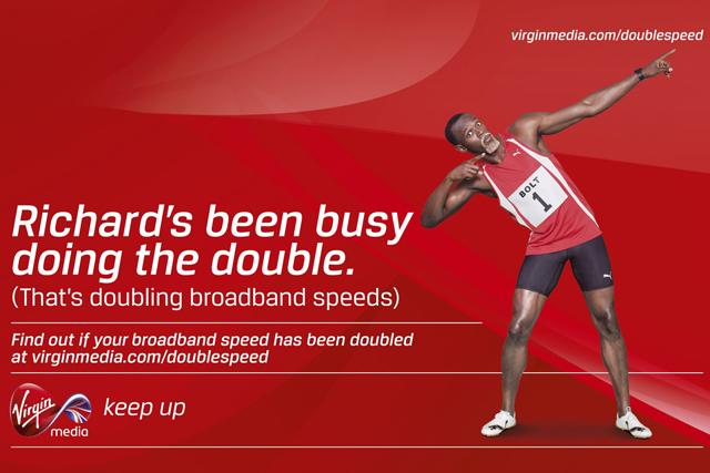 Virgin Media ad: starring Olympics double gold champion Usain Bolt