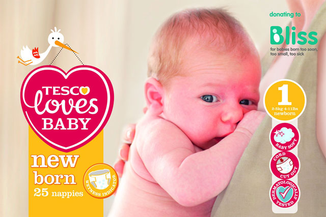Tesco: supermarket unveils Tesco Loves Baby brand