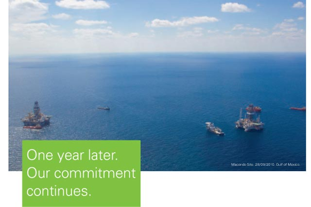 BP: ads pre-empt anniversary of Gulf oil spill