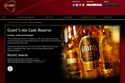 Grant's Whisky: new website