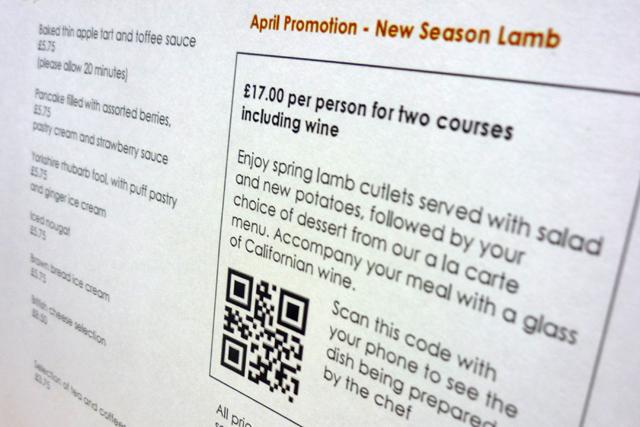 Radisson Edwardian: introduces QR to menus