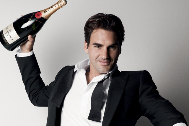 Roger Federer: new Moët & Chandon brand ambassador