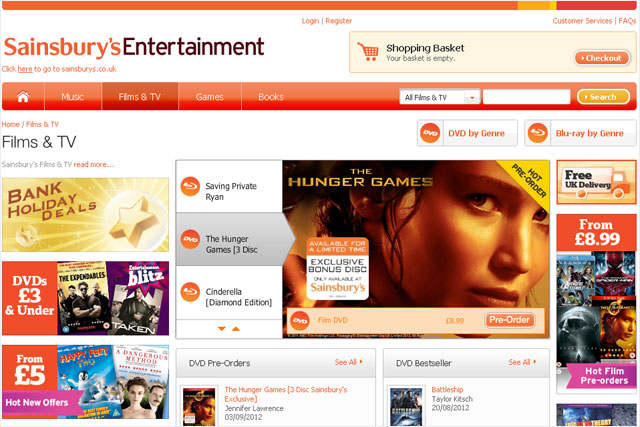 Sainsbury's: set to enter the VoD market with film service offer