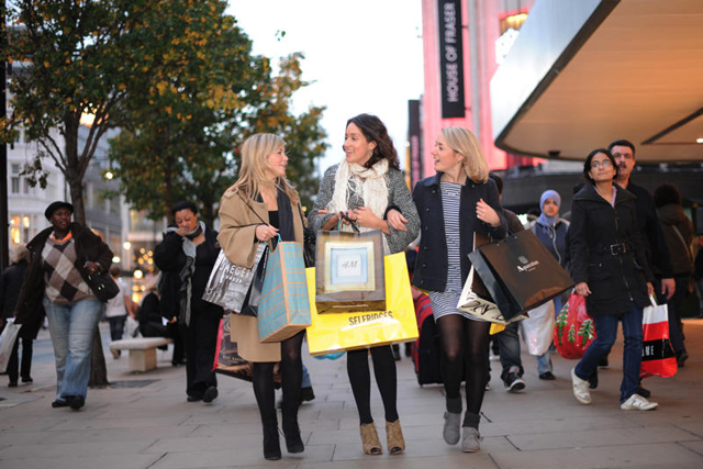 Oxford Street shoppers
