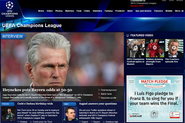 Uefa: football body drives up its digital presence for Champions League final