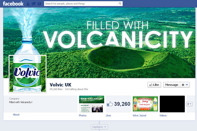 Volvic: runs competition on Facebook