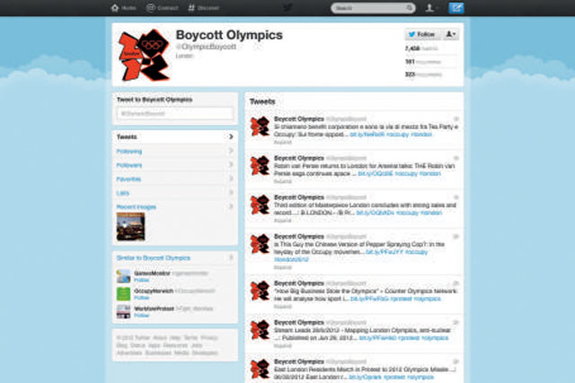 Locog: in talks with Twitter about policing ambush marketing