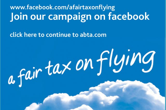 ABTA: leads the Fair Tax on Flying campaign
