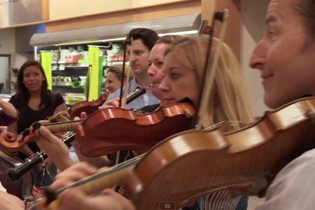 Classic FM: sends flash mob to Morrisons