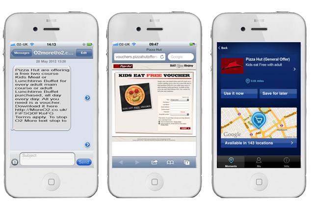 Pizza Hut: previously run mobile ads with O2