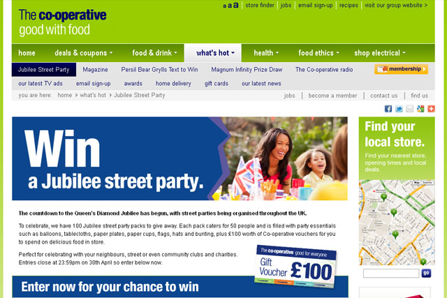 The Co-operative: offers to help fund Diamond Jubilee street parties