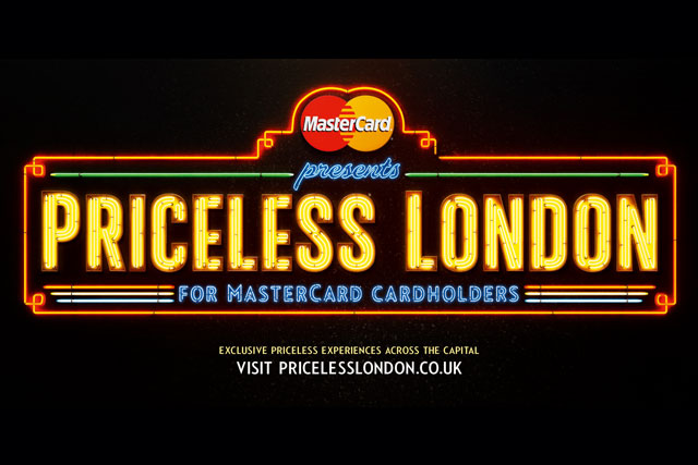 MasterCard: rolling out 'Priceless London' next week