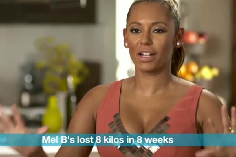 Mel B: stars in Jenny Craig's Australia campaign