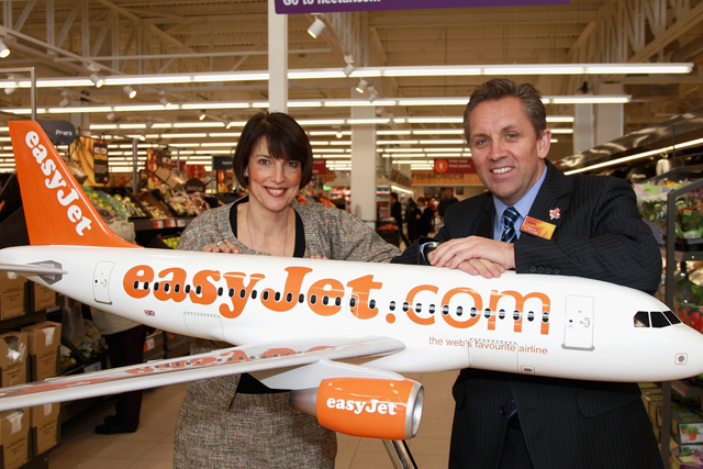 EasyJet chief executive Carolyn McCall with Sainsbury's chief executive Justin King
