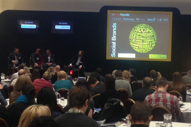 Social Brands: delegates attend the conference in London yesterday