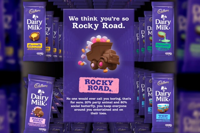 Cadbury's Joy Generator: dispenses chocolate bar based on Facebook profile