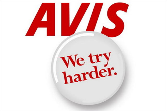 Avis: 'we try harder' slogan
