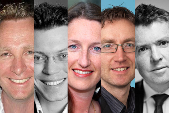 David Leslie, Tom Adams,Abi Comber, Tom Rees and Peter Duffy
