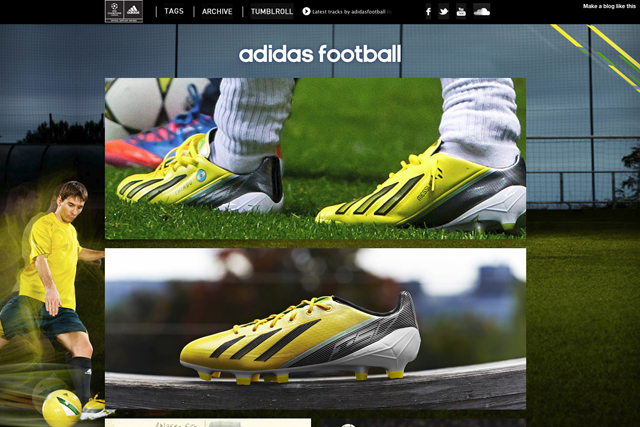 Tumblr: Adidas was first to use ad format