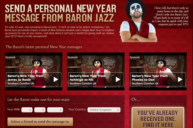 Southern Comfort: Facebook campaign features fictional character Baron Jazz