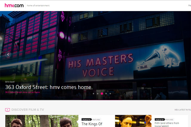 HMV: updates website