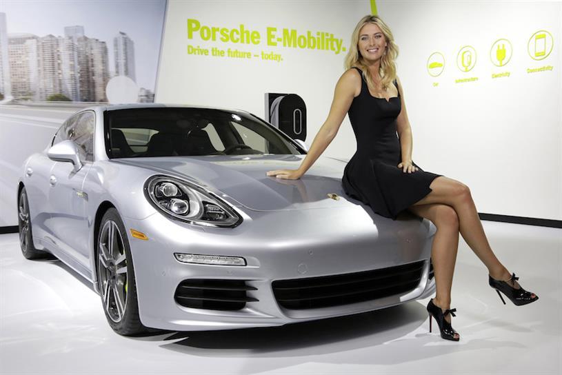 Maria Sharapova and Porsche: the car manufacturer has sponsored Maria and Friends tournaments
