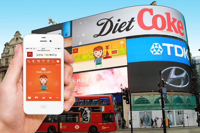 McDonald's: interactive Piccadilly Circus sign enables passers-by to create animated images