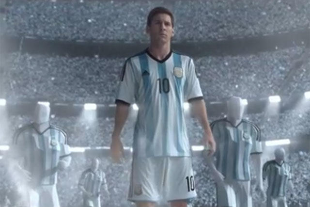 Lionel Messi: stars in Adidas game