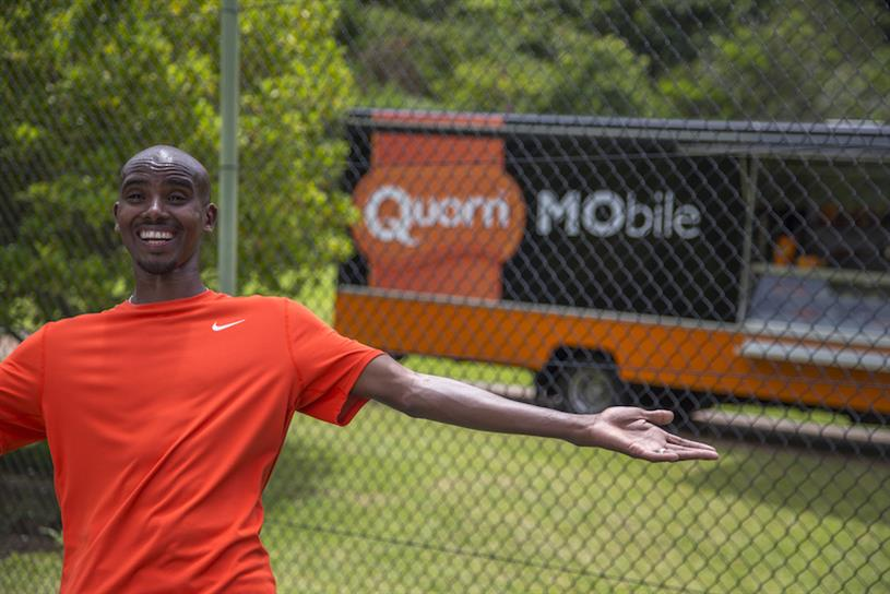 Mo Farah: third year featuring in Quorn ads
