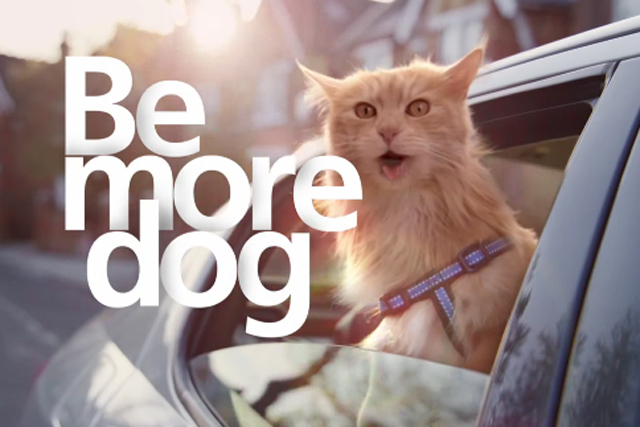 """O2: """"be more dog"""" campaign"""