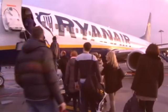 Ryanair: new TV ad screening in Ireland