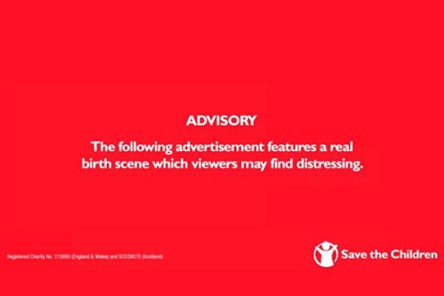Save the Children 'live birth' ad escapes ban despite 613 complaints