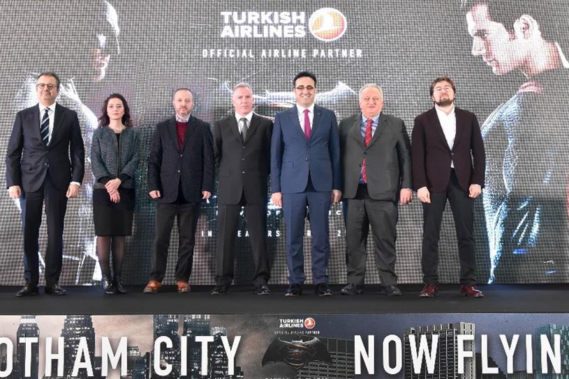 Turkish Airlines has sponsored Batman V Superman