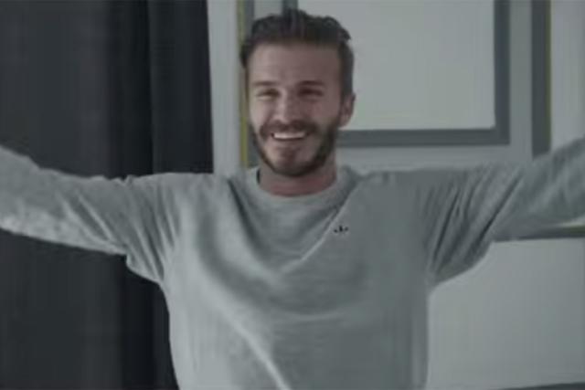 Adidas: David Beckham celebrates getting one over Gareth Bale