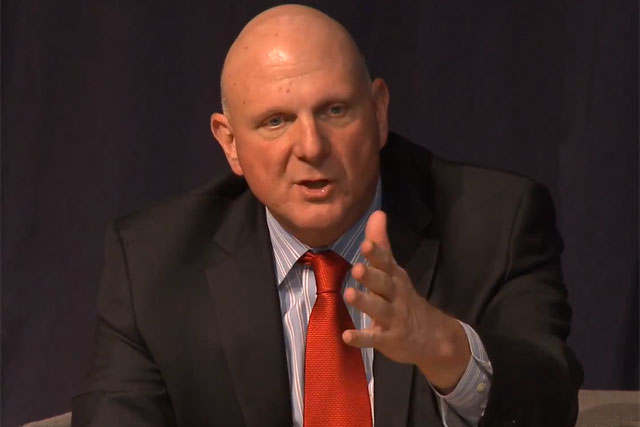 Steve Ballmer: former Microsoft chief addresses delegates at the Saïd Business School
