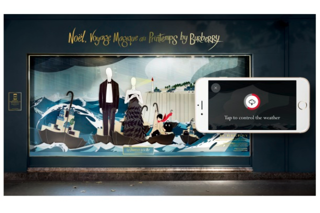 Burberry: going interactive for Christmas window display